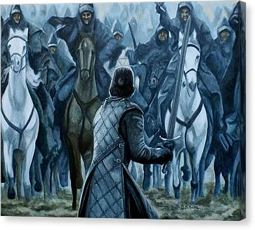 Canvas Print featuring the painting Standing Brave by Al  Molina
