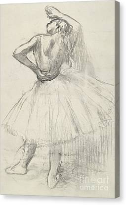 Standing Dancer, Right Arm Raised Canvas Print