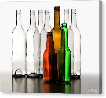 Wine Bottle Canvas Print - Standing In Front by Joe Bonita