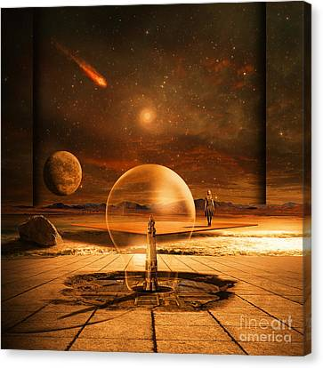 Canvas Print featuring the digital art Standing In Time by Franziskus Pfleghart