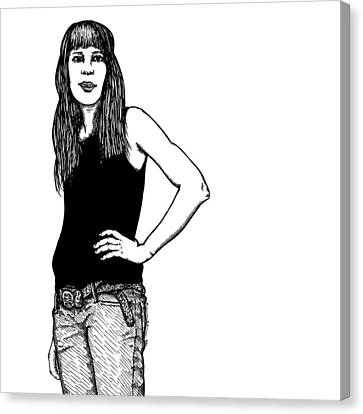 Standing Lady Canvas Print by Karl Addison