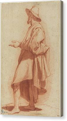 Standing Man Wearing A Cloak And Hat 1602 Canvas Print by Stephanie Brock