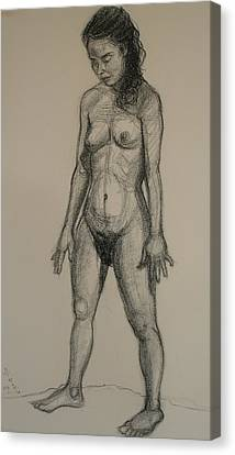 Standing Nude 5 Canvas Print by Donelli  DiMaria