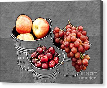 Canvas Print featuring the photograph Standing Out As Fruit by Sherry Hallemeier
