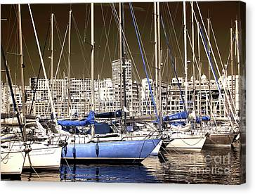 Standing Out In Marseille Canvas Print by John Rizzuto
