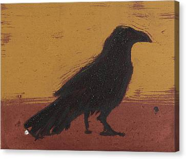 Standing Raven 2 Canvas Print by Sophy White