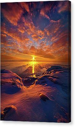 Canvas Print featuring the photograph Standing Stilled by Phil Koch