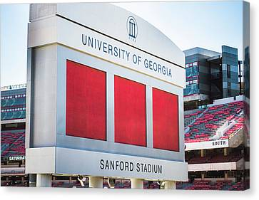 Canvas Print featuring the photograph Standing Tall Over Sanford Stadium  by Parker Cunningham