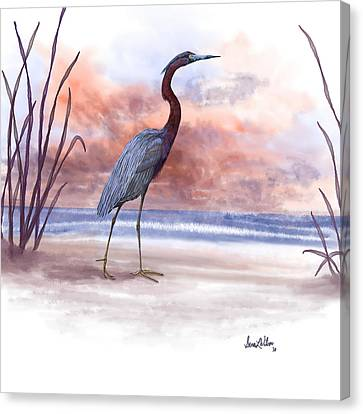 Canvas Print featuring the painting Standing Tall by Sena Wilson