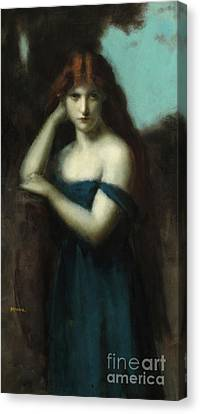 Bare Shoulder Canvas Print - Standing Woman by Jean-Jacques Henner