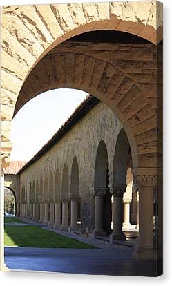 Stanford Memorial Court Arches I Canvas Print by Linda Dunn