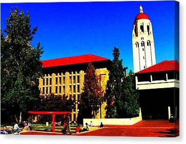 Stanford University - Stanford Ca Canvas Print by Fareeha Khawaja