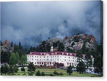 Stanley Hotel At Estes Park Canvas Print by Gregory Scott
