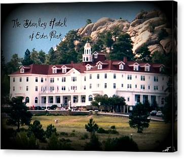 Stanley Hotel Canvas Print by Michelle Frizzell-Thompson