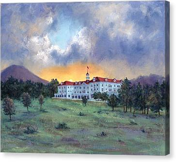 Stanley Hotel Sunset Canvas Print
