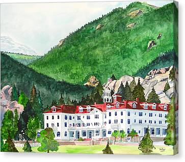 Stanley Hotel Canvas Print by Tom Riggs