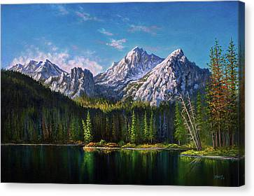 Bob Ross Canvas Print - Stanley Lake Reflections by Chris Steele