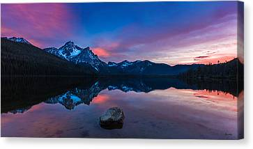 Stanley Lake Tranquility Canvas Print by C Steele