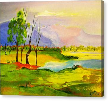 Stanthorpe Wine In My Glass Canvas Print