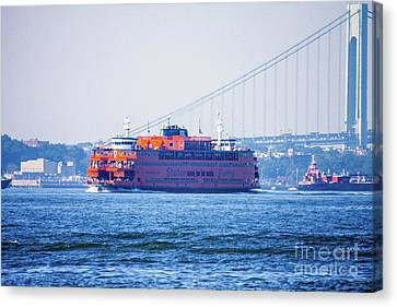 Stanton Island Ferry Canvas Print by William Rogers