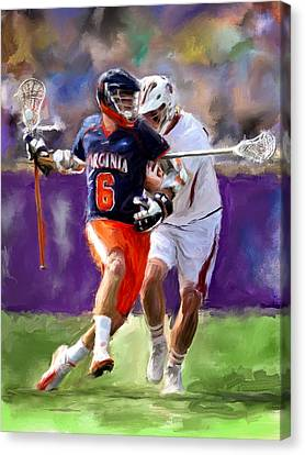 Stanwick Lacrosse Canvas Print by Scott Melby