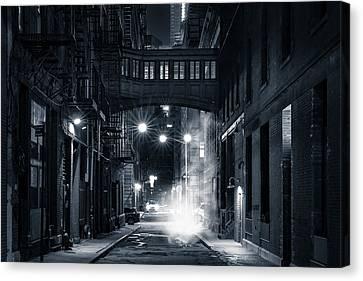 Staple Street Skybridge By Night Canvas Print by Mihai Andritoiu