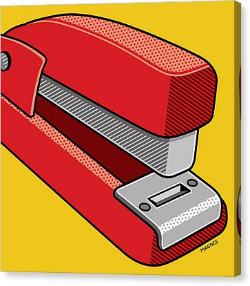Canvas Print featuring the digital art Stapler by Ron Magnes