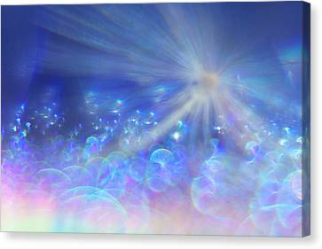 Canvas Print featuring the photograph Star And Bubbles by Greg Collins