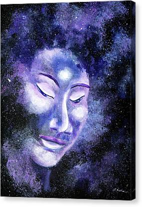 Star Buddha Of Equanimity Canvas Print by Laura Iverson