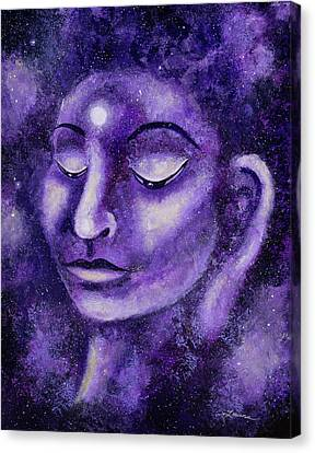 Star Buddha Of Purple Patience Canvas Print by Laura Iverson