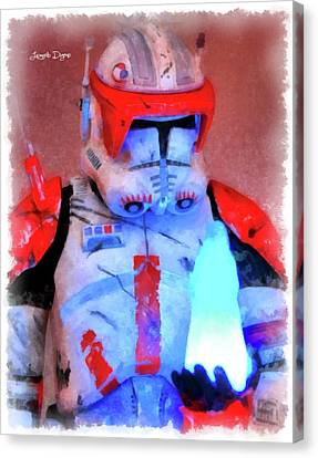 Star Commander Cody Order 66 - Aquarell Style Canvas Print by Leonardo Digenio
