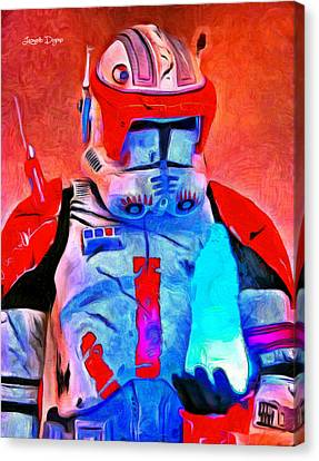 Star Commander Cody Order 66  - Van Gogh Style -  - Da Canvas Print by Leonardo Digenio
