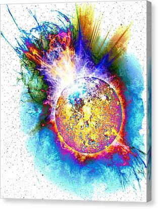 Star Flare Canvas Print by Julie Turner