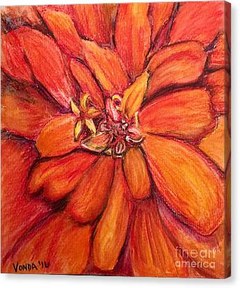 Canvas Print featuring the drawing Star Flower by Vonda Lawson-Rosa