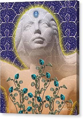 Star Goddess Canvas Print by Keith Dillon