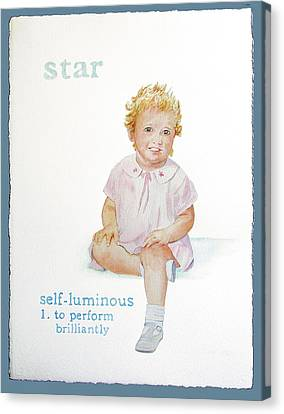 Star Canvas Print by Janice Crow