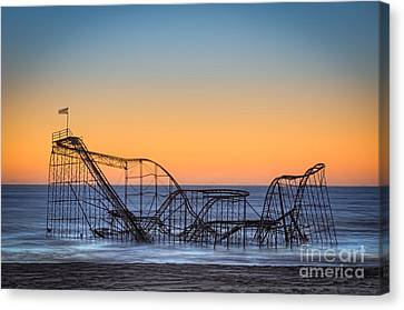 Star Jet Roller Coaster Ride  Canvas Print