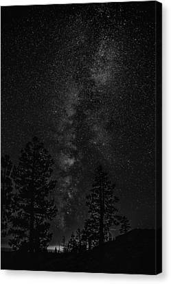 Star Light Star Bright In Black And White Canvas Print