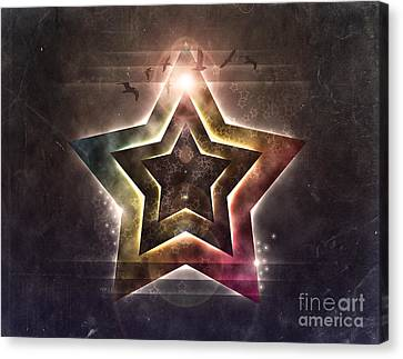 Canvas Print featuring the digital art Star Lights by Phil Perkins