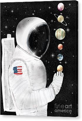 Canvas Print featuring the painting Star Man by Bri B