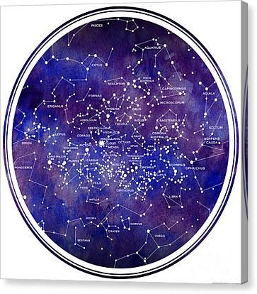 Star Map Iv Canvas Print