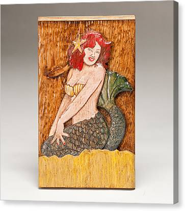 Star Mermaid Canvas Print by James Neill