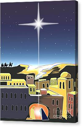 Star Of Bethlehem Canvas Print by Larry Cole