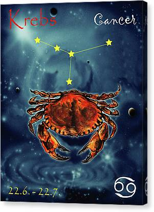Star Of Cancer Canvas Print by Johannes Margreiter