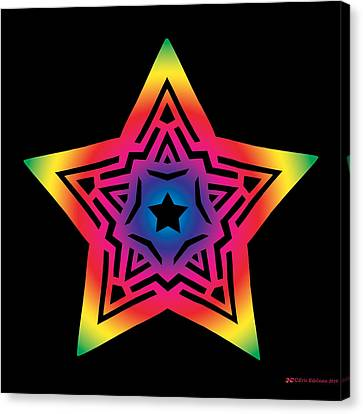 Star Of Gratitude Canvas Print by Eric Edelman