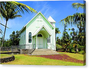 Hawaii Canvas Print - Star Of The Sea Painted Church by Jim Thompson