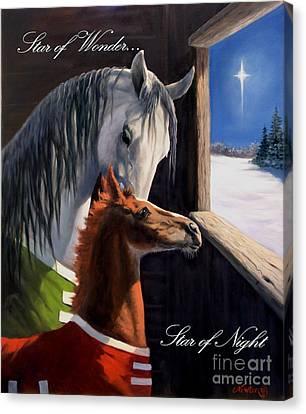 Star Of Wonder Canvas Print by Jeanne Newton Schoborg