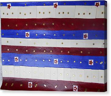 Star Spangled Banner Canvas Print by Nancy Graham