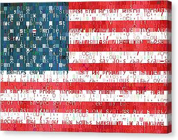 Star Spangled Banner American Flag Canvas Print by Dan Sproul