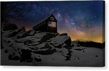 Canvas Print featuring the photograph Star Spangled Banner by Bill Wakeley